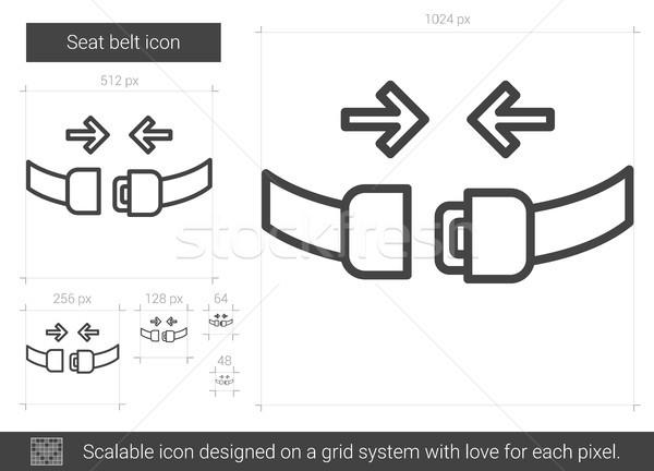 Koltuk kemer hat ikon vektör yalıtılmış Stok fotoğraf © RAStudio