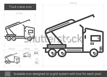 Truck crane line icon. Stock photo © RAStudio