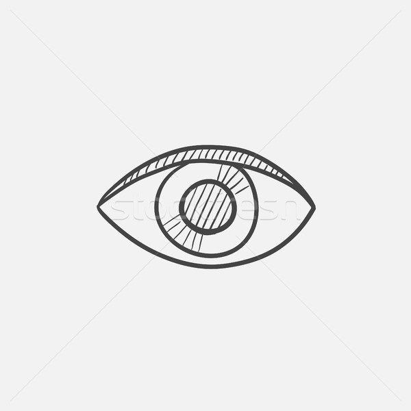 Publish content button sketch icon. Stock photo © RAStudio