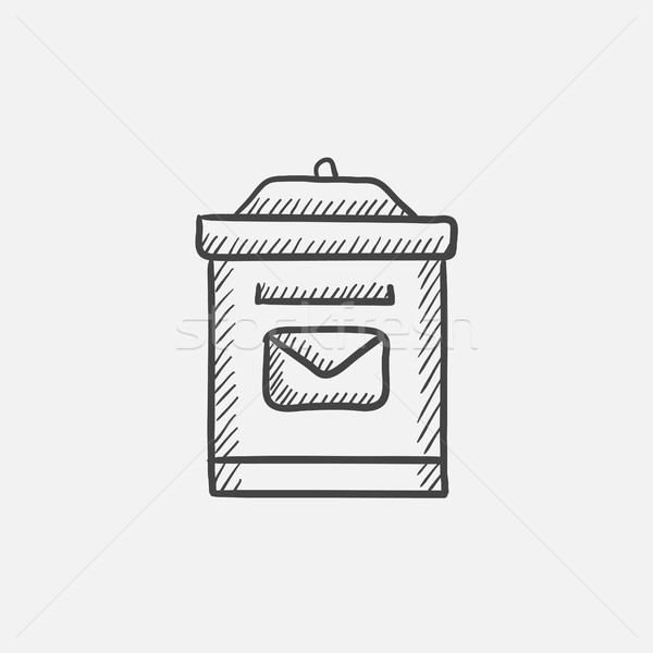 Mail box sketch icon. Stock photo © RAStudio