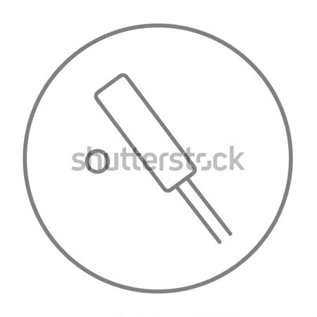 Krikett vonal ikon sarkok háló mobil Stock fotó © RAStudio