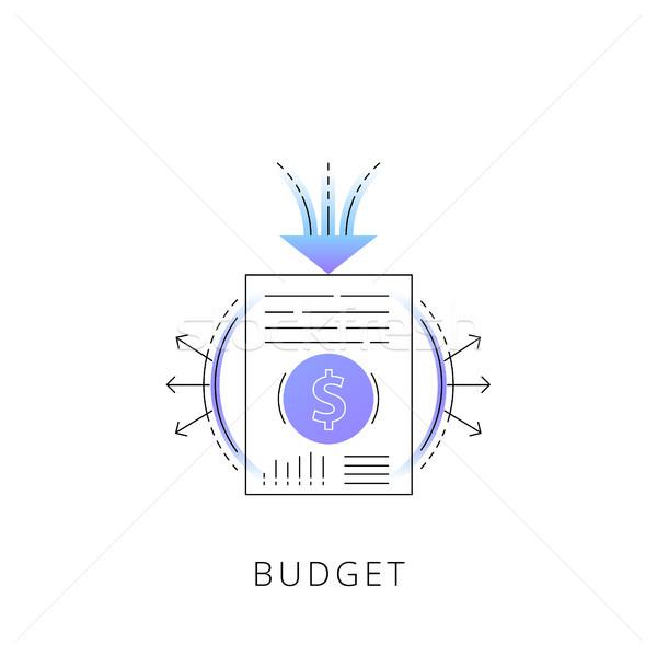 Néon orçamento vetor linha ícone isolado Foto stock © RAStudio