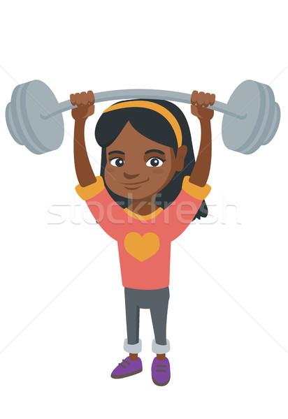 сильный африканских девушки веса Сток-фото © RAStudio
