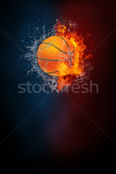 Basketball sports tournament modern poster template. Stock photo © RAStudio