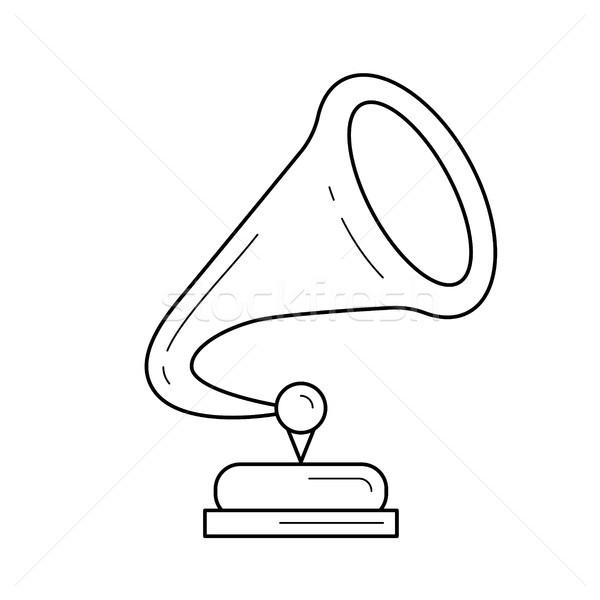 Phonograph line icon. Stock photo © RAStudio