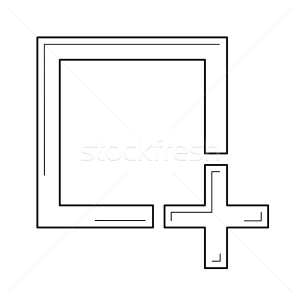 Add image line icon. Stock photo © RAStudio