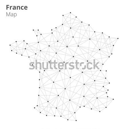França mapa tecnologia rede estilo ilustração Foto stock © RAStudio