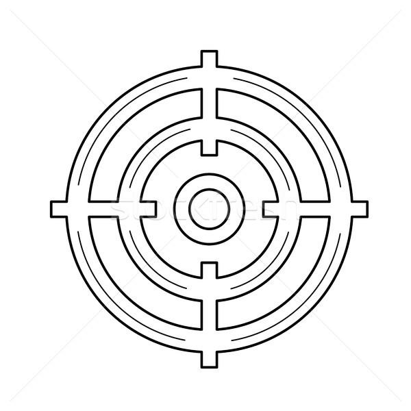 целевой аудитории линия икона вектора изолированный Сток-фото © RAStudio