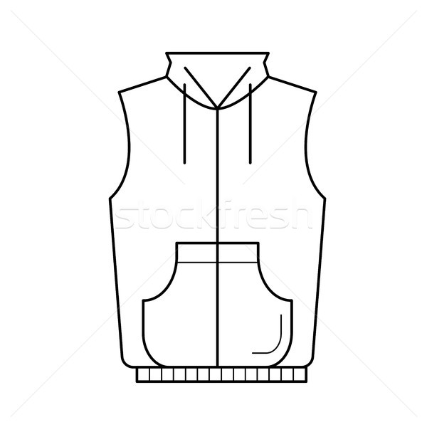 Vest jacket vector line icon. Stock photo © RAStudio
