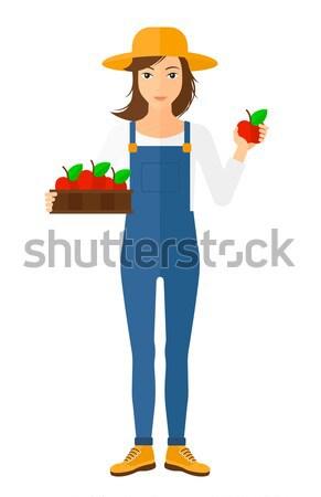 Mince femme pants résultats régime alimentaire Photo stock © RAStudio