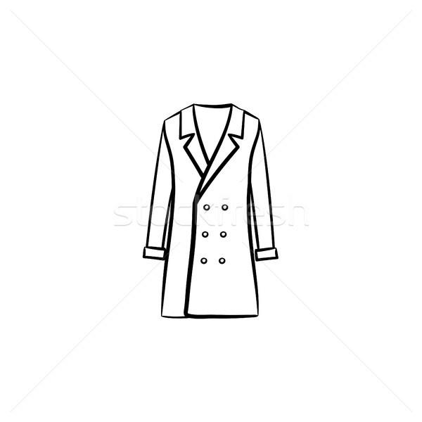 Coat hand drawn sketch icon. Stock photo © RAStudio