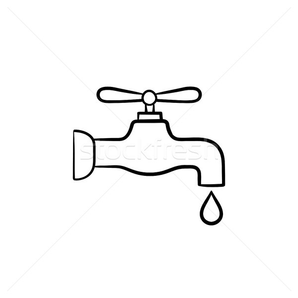 Water pipe with clean drop drawn sketch icon. Stock photo © RAStudio