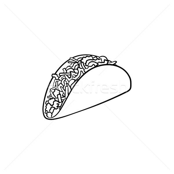 Taco hand drawn sketch icon. Stock photo © RAStudio