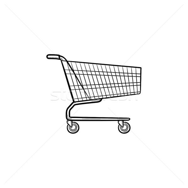 Shopping cart hand drawn outline doodle icon. Stock photo © RAStudio