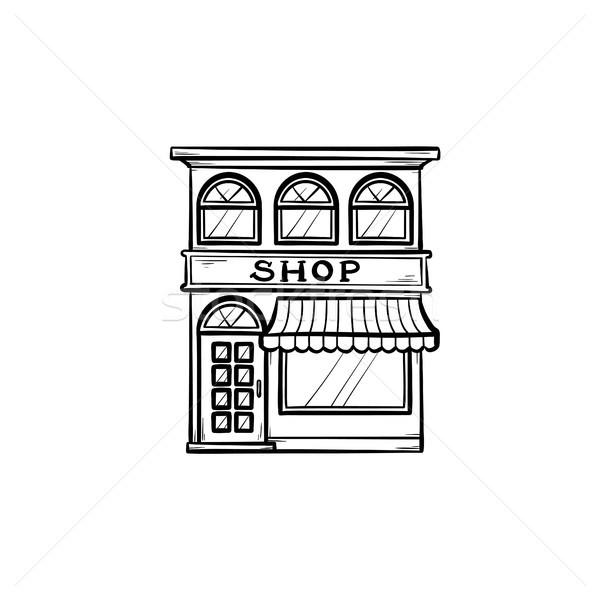 Shopping store hand drawn outline doodle icon. Stock photo © RAStudio