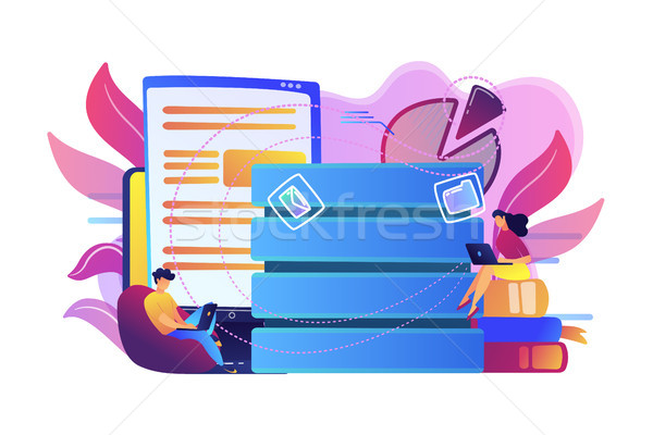 Data entry concept vector illustration. Stock photo © RAStudio