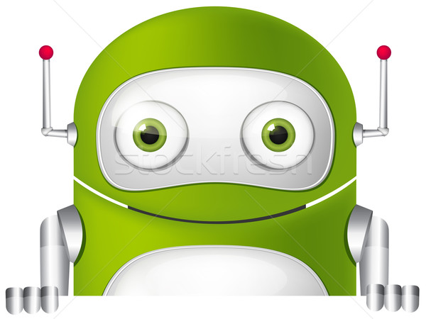 Cute robot isolé gris gradient Photo stock © RAStudio