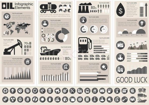 Oil Industry Infographic Template Stock photo © RAStudio