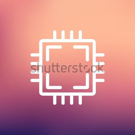 Circuito sottile line icona web mobile Foto d'archivio © RAStudio