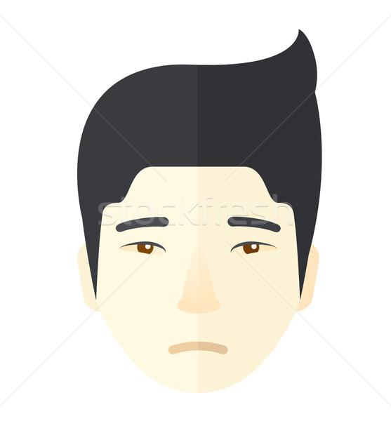 Face of a sad japanese guy. Stock photo © RAStudio