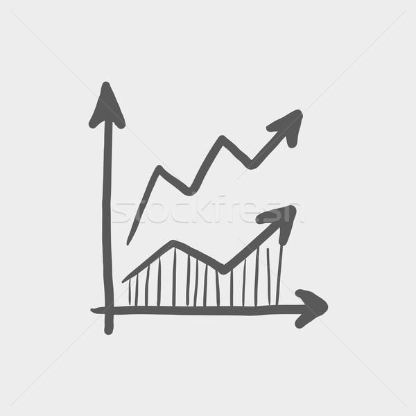 Stock photo: Arrows sketch icon