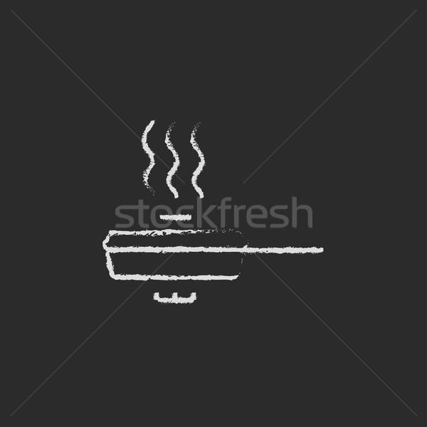 Sartén cubrir icono tiza dibujado a mano Foto stock © RAStudio