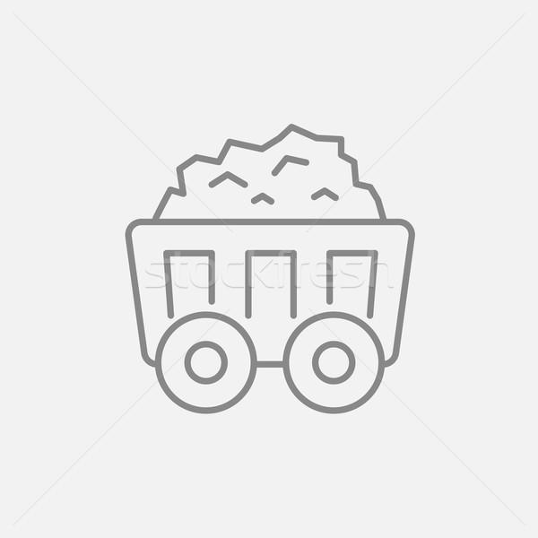 горно уголь корзины линия икона веб Сток-фото © RAStudio