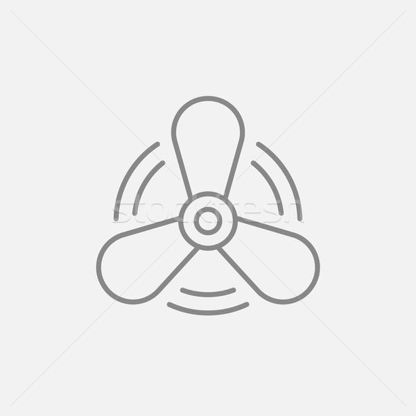 Tekne pervane hat ikon web hareketli Stok fotoğraf © RAStudio