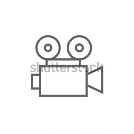 Filmadora linha ícone teia móvel infográficos Foto stock © RAStudio
