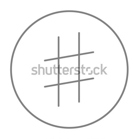 Hashtag symbol line icon. Stock photo © RAStudio