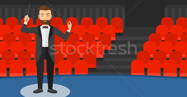 Conductor directing with baton. Stock photo © RAStudio