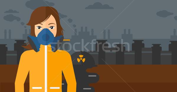 Woman in protective chemical suit. Stock photo © RAStudio