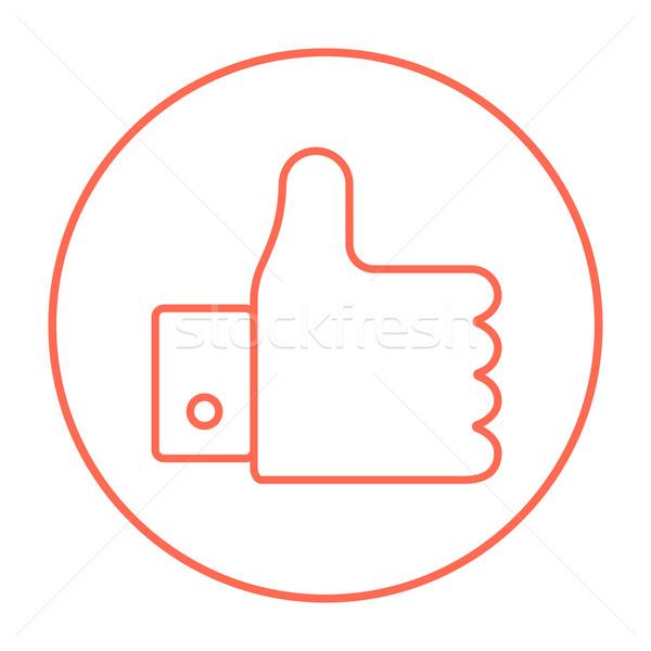 Thumb up line icon. Stock photo © RAStudio