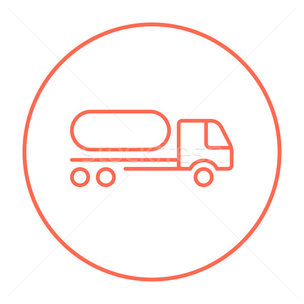 Carburante camion line icona web mobile Foto d'archivio © RAStudio