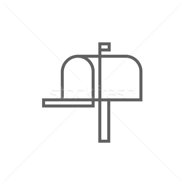 メールボックス 行 アイコン コーナー ウェブ 携帯 ストックフォト © RAStudio