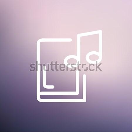 Audio libro line icona angoli web Foto d'archivio © RAStudio