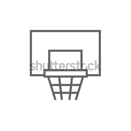 Basketball hoop line icon. Stock photo © RAStudio