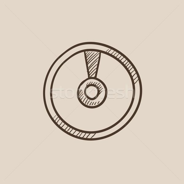 диска эскиз икона веб мобильных Инфографика Сток-фото © RAStudio