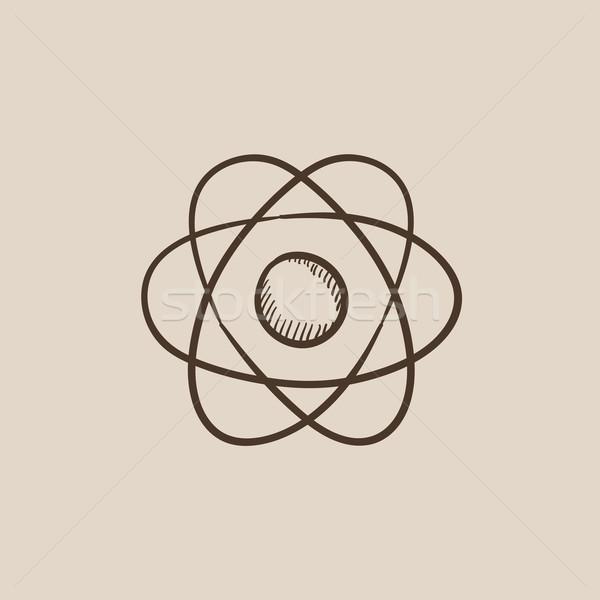 Atom sketch icon. Stock photo © RAStudio
