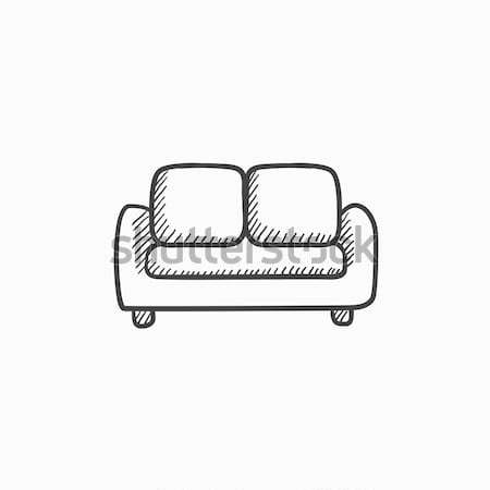 Sofa sketch icon. Stock photo © RAStudio