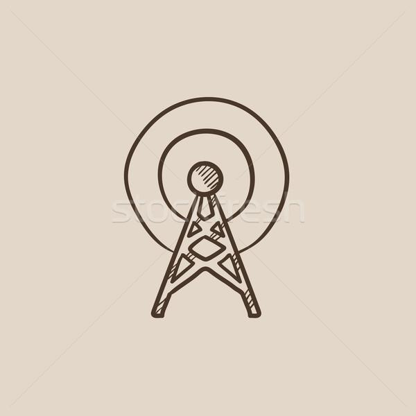Antenna sketch icon. Stock photo © RAStudio