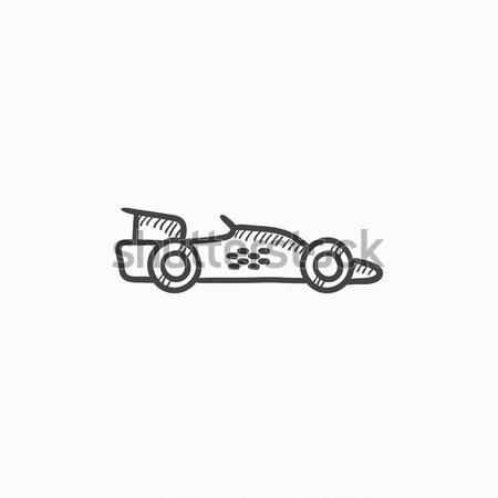 レースカー スケッチ アイコン ウェブ 携帯 インフォグラフィック ストックフォト © RAStudio