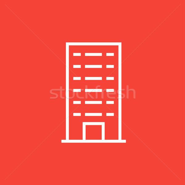 Residencial edificio línea icono esquinas web Foto stock © RAStudio