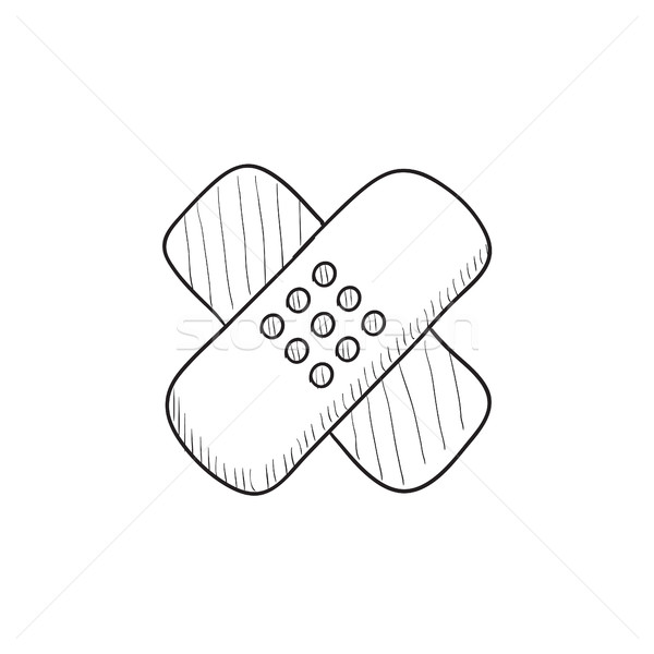 Adhesive bandages sketch icon. Stock photo © RAStudio