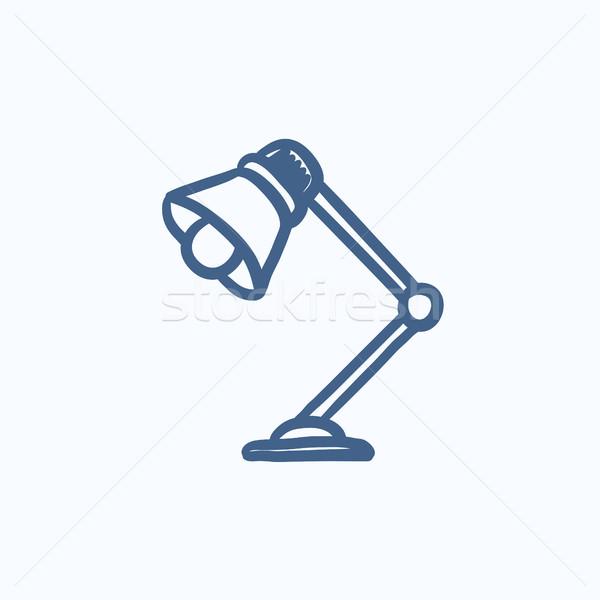 Table lamp sketch icon. Stock photo © RAStudio