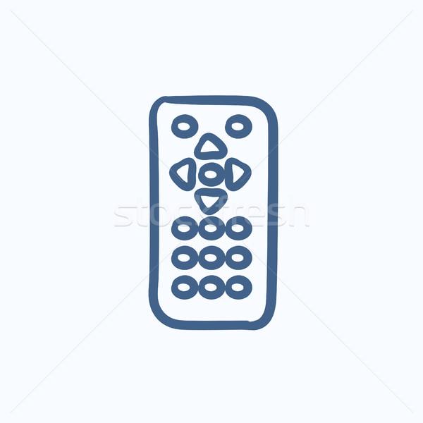 Távirányító rajz ikon vektor izolált kézzel rajzolt Stock fotó © RAStudio