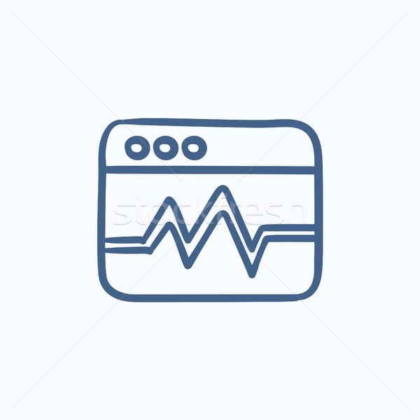 Internetowych analityka informacji szkic ikona wektora Zdjęcia stock © RAStudio