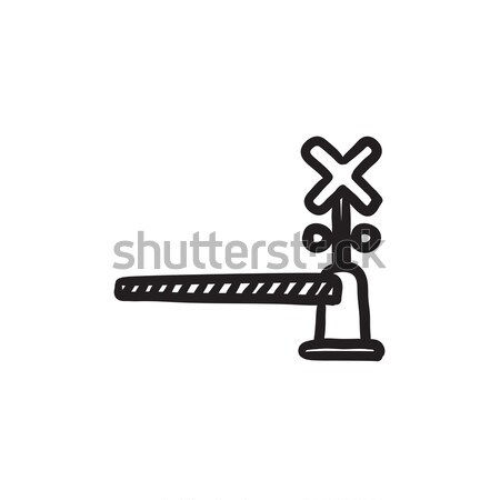 Railway barrier sketch icon. Stock photo © RAStudio