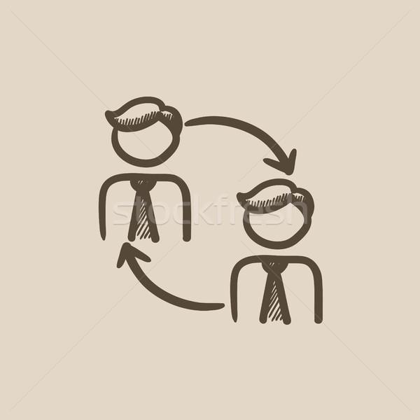 Staff turnover sketch icon. Stock photo © RAStudio