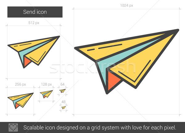 Send line icon. Stock photo © RAStudio
